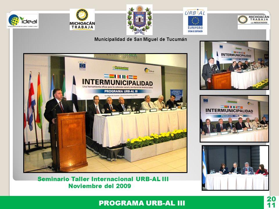Municipalidad de San Miguel de Tucumán PROGRAMA URB-AL III 11 20 Inst.o Miguel Lillo Facultad de Ciencias Naturales Col.