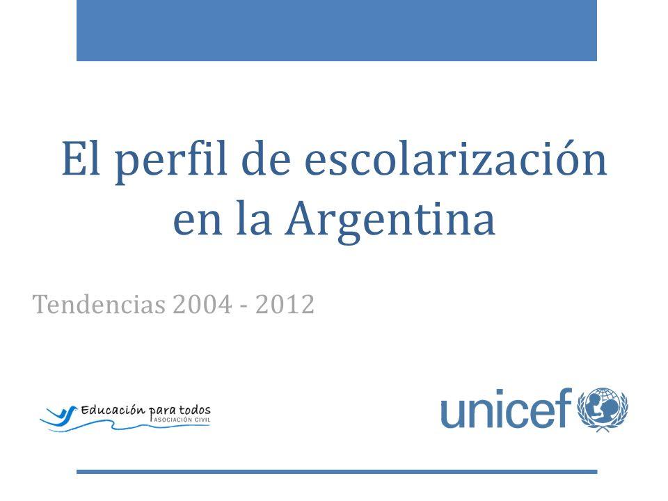 El perfil de escolarización en la Argentina Tendencias 2004 - 2012
