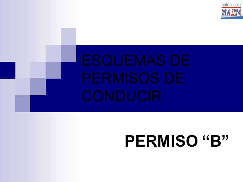 ESQUEMAS DE PERMISOS DE CONDUCIR PERMISO B