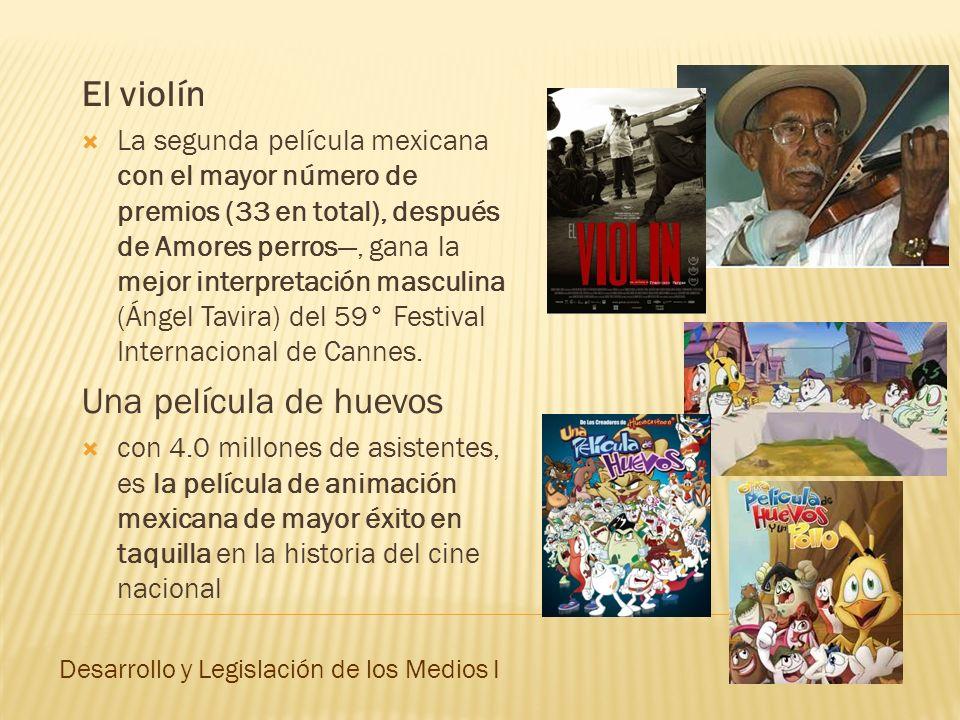 El violín La segunda película mexicana con el mayor número de premios (33 en total), después de Amores perros, gana la mejor interpretación masculina