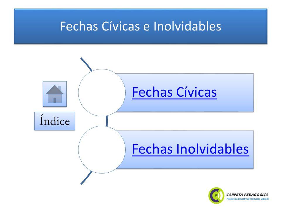 Fechas Cívicas e Inolvidables Fechas Cívicas Fechas Inolvidables Índice