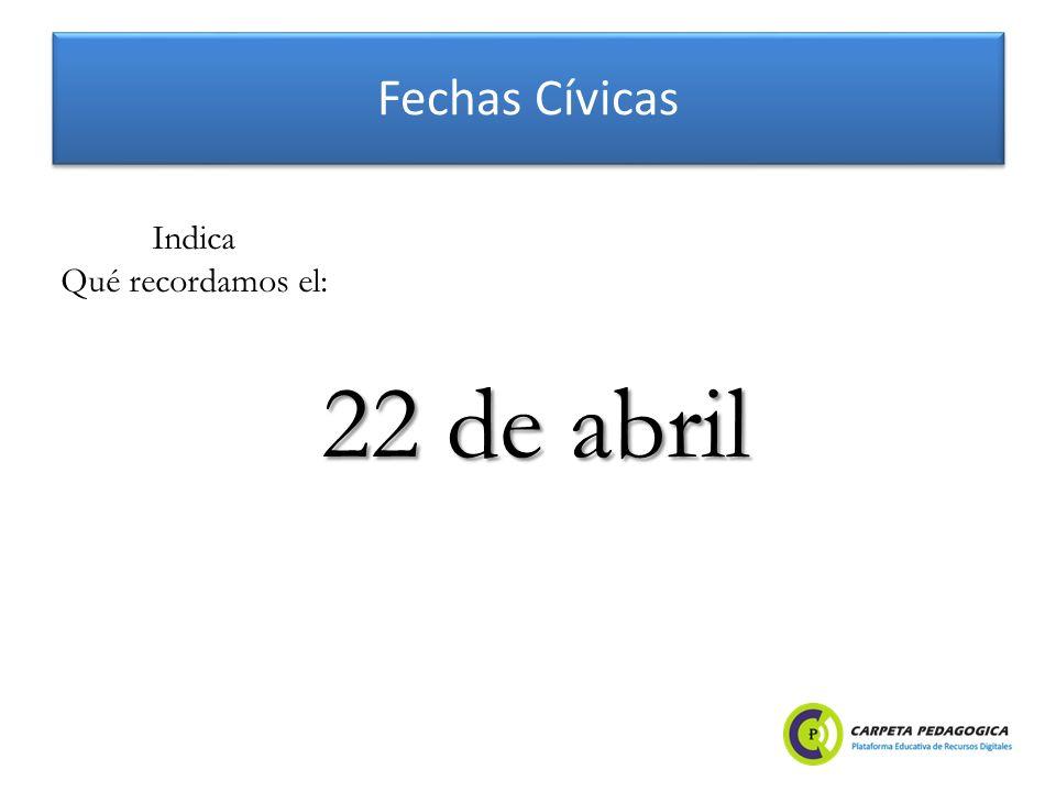 Fechas Cívicas Día de la Tierra