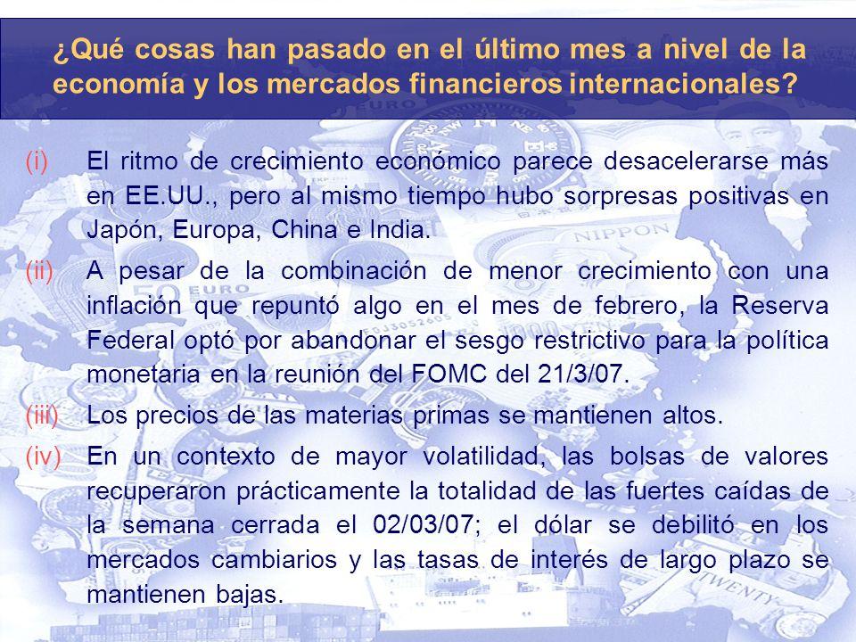 Uruguay: La Continuidad de la bonanza externa asegura que también el 2007 será un buen año para la economía uruguaya.