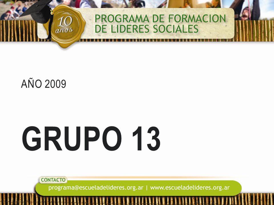 AÑO 2009 GRUPO 13