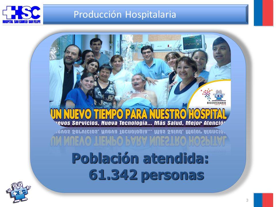 14 Producción Hosp.: Apoyo Diagnóstico 14.1%