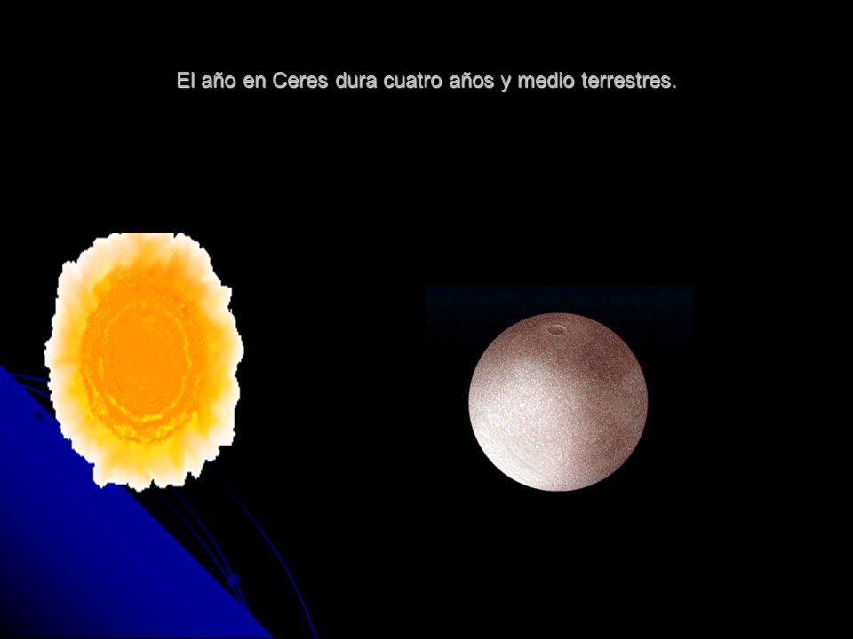 El año en Ceres dura cuatro años y medio terrestres.