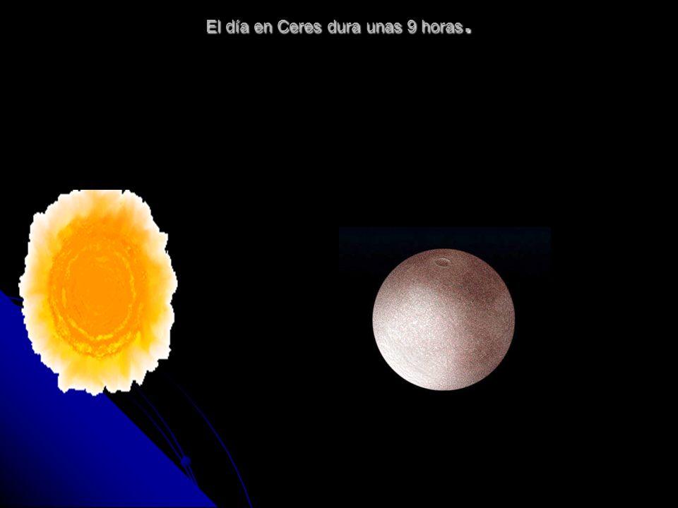 El día en Ceres dura unas 9 horas.