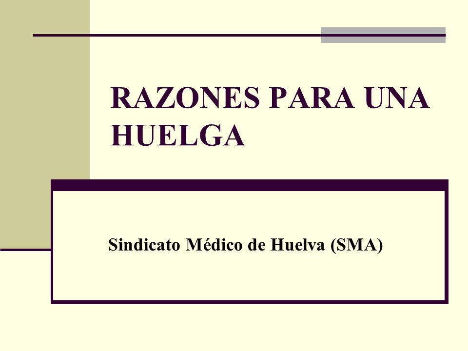 RAZONES PARA UNA HUELGA Sindicato Médico de Huelva (SMA)