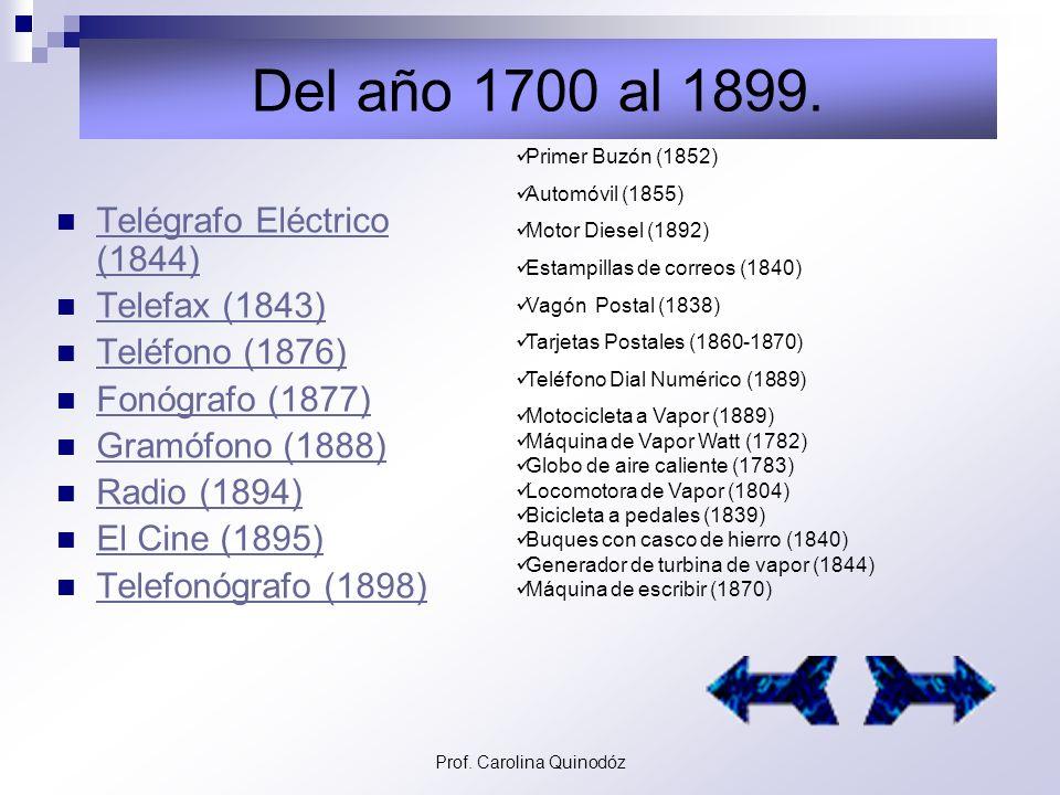 Prof.Carolina Quinodóz Del año 1 de Nuestra Era al 1500.