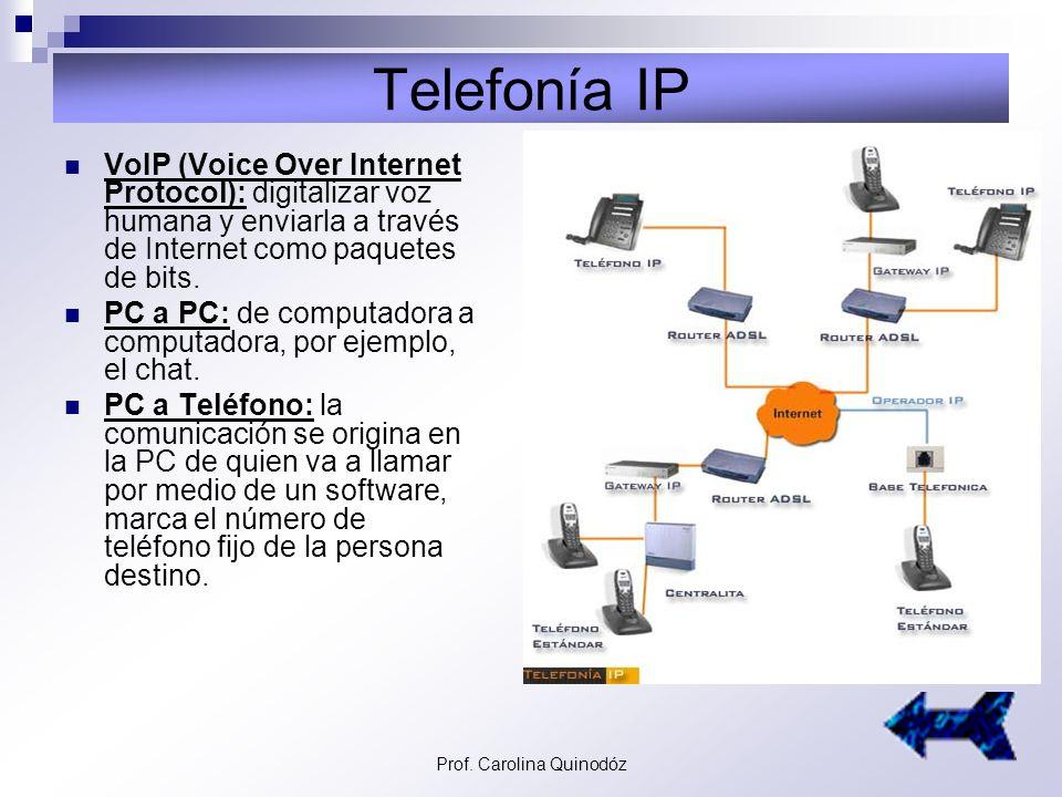 Prof. Carolina Quinodóz Internet, red de redes En 1990 se extiende sólo a centros científicos, luego a las universidades hasta quedar sin restriccione