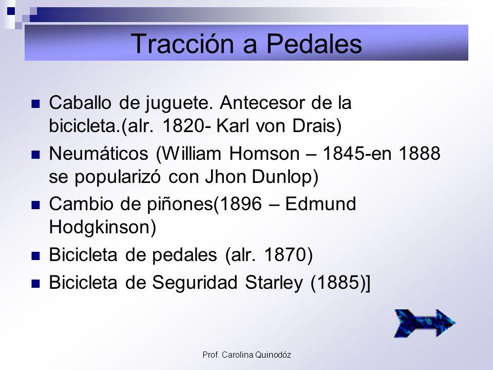 Prof. Carolina Quinodóz Transporte Ferroviario Señales semafóricas mecánicas (1840). Locomotora de vapor (Richard Trevithick- 1804). Rieles de acero (