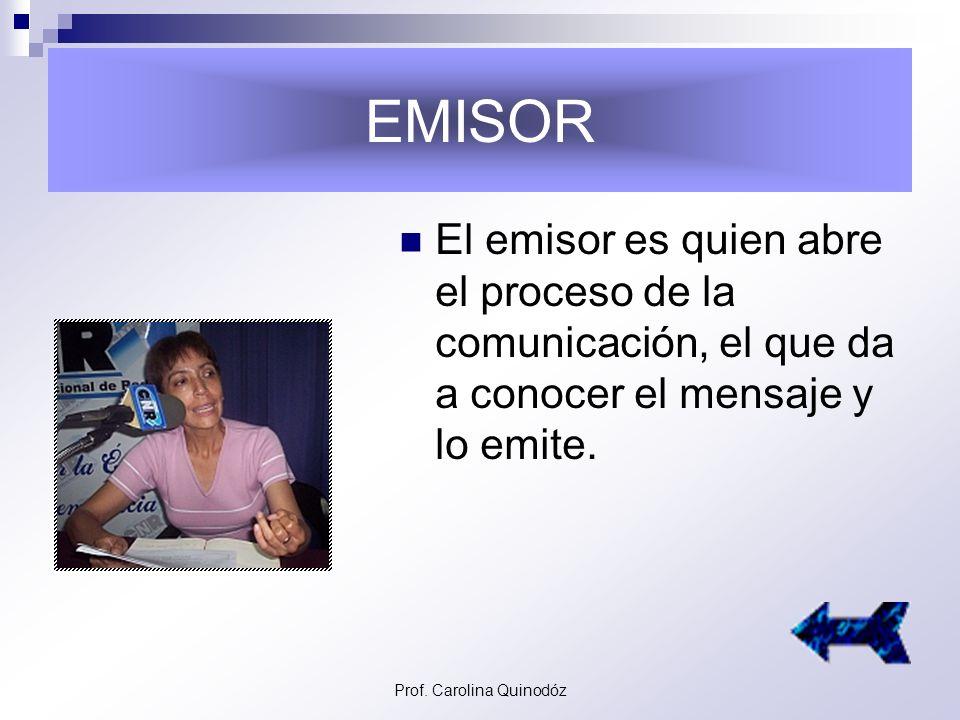 Prof. Carolina Quinodóz El ancla