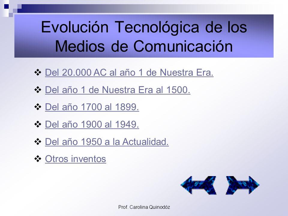 Prof. Carolina Quinodóz Barcos de Vapor