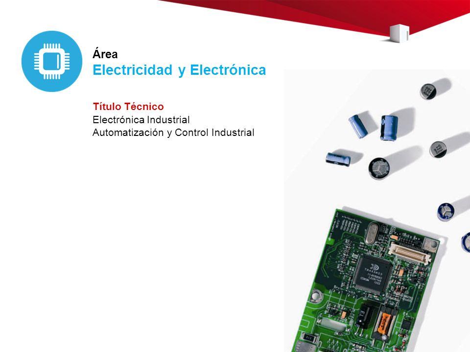 Área Electricidad y Electrónica Título Técnico Electrónica Industrial Automatización y Control Industrial