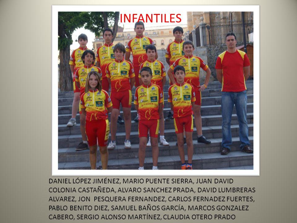 INFANTILES DANIEL LÓPEZ JIMÉNEZ, MARIO PUENTE SIERRA, JUAN DAVID COLONIA CASTAÑEDA, ALVARO SANCHEZ PRADA, DAVID LUMBRERAS ALVAREZ, JON PESQUERA FERNAN