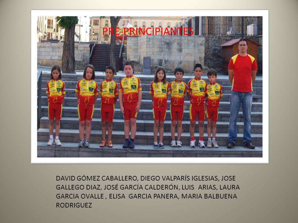 PRE-PRINCIPIANTES DAVID GÓMEZ CABALLERO, DIEGO VALPARÍS IGLESIAS, JOSE GALLEGO DIAZ, JOSÉ GARCÍA CALDERÓN, LUIS ARIAS, LAURA GARCIA OVALLE, ELISA GARC