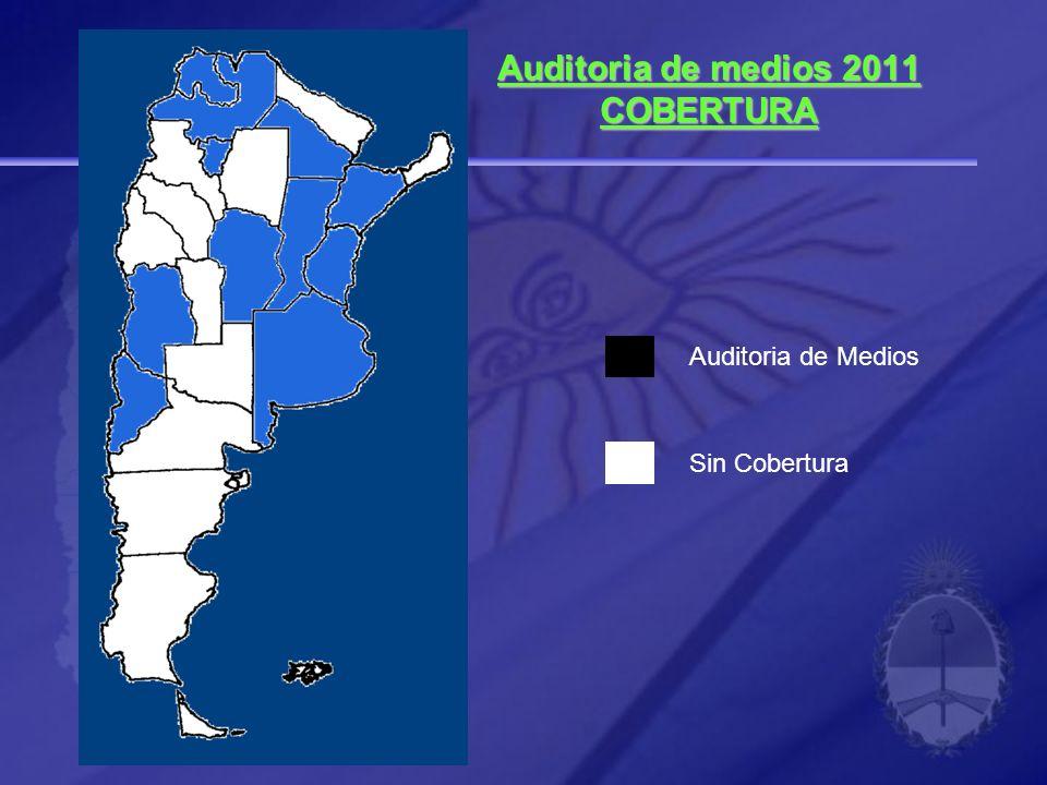 Auditoria de medios 2011 COBERTURA Auditoria de Medios Sin Cobertura