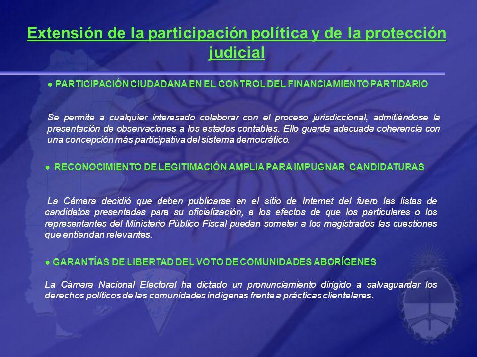 PARTICIPACIÓN CIUDADANA EN EL CONTROL DEL FINANCIAMIENTO PARTIDARIO Se permite a cualquier interesado colaborar con el proceso jurisdiccional, admitié