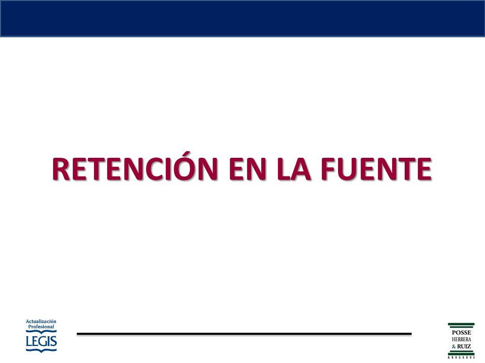RETENCIÓN EN LA FUENTE