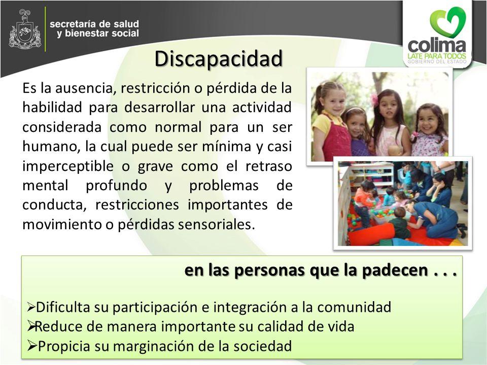 DATOS RELEVANTES 10% de la población mundial tiene una o más discapacidades* En México 2.2.