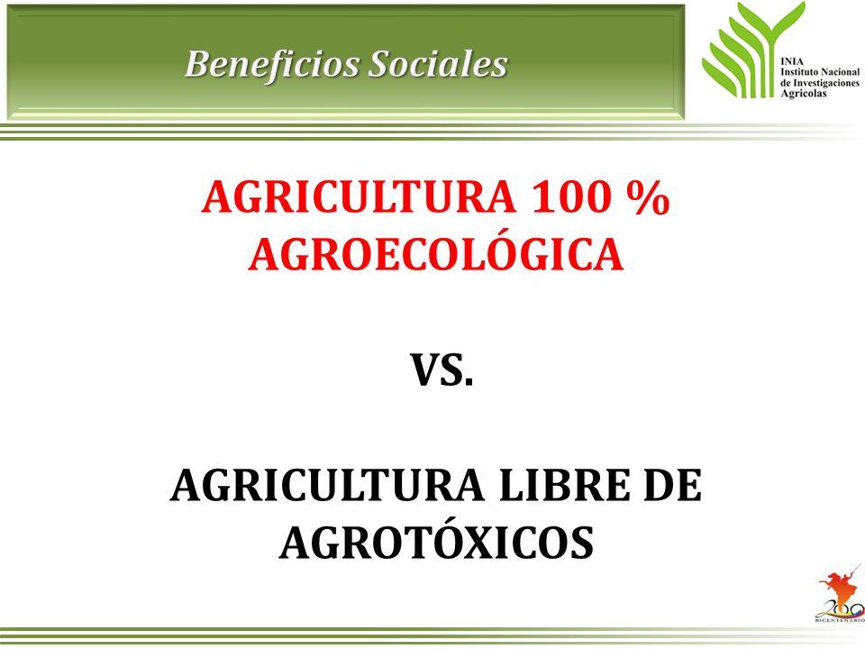 AGRICULTURA 100 % AGROECOLÓGICA VS. AGRICULTURA LIBRE DE AGROTÓXICOS