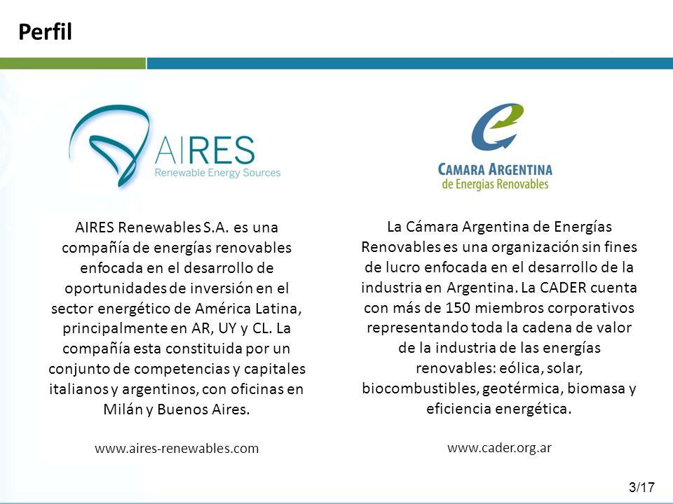 Perfil AIRES Renewables S.A. es una compañía de energías renovables enfocada en el desarrollo de oportunidades de inversión en el sector energético de