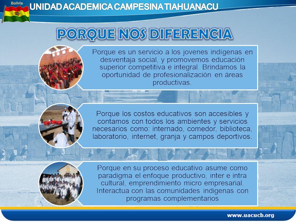 Para los jovenes bachilleres indigenas que tienen pocas oportunidades de acceso a la Educación Superior.