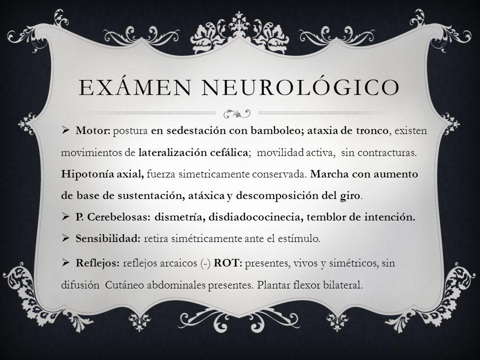 Neurodegeneración : Sin estudios que demuestren cura o desaceleren la progresión.