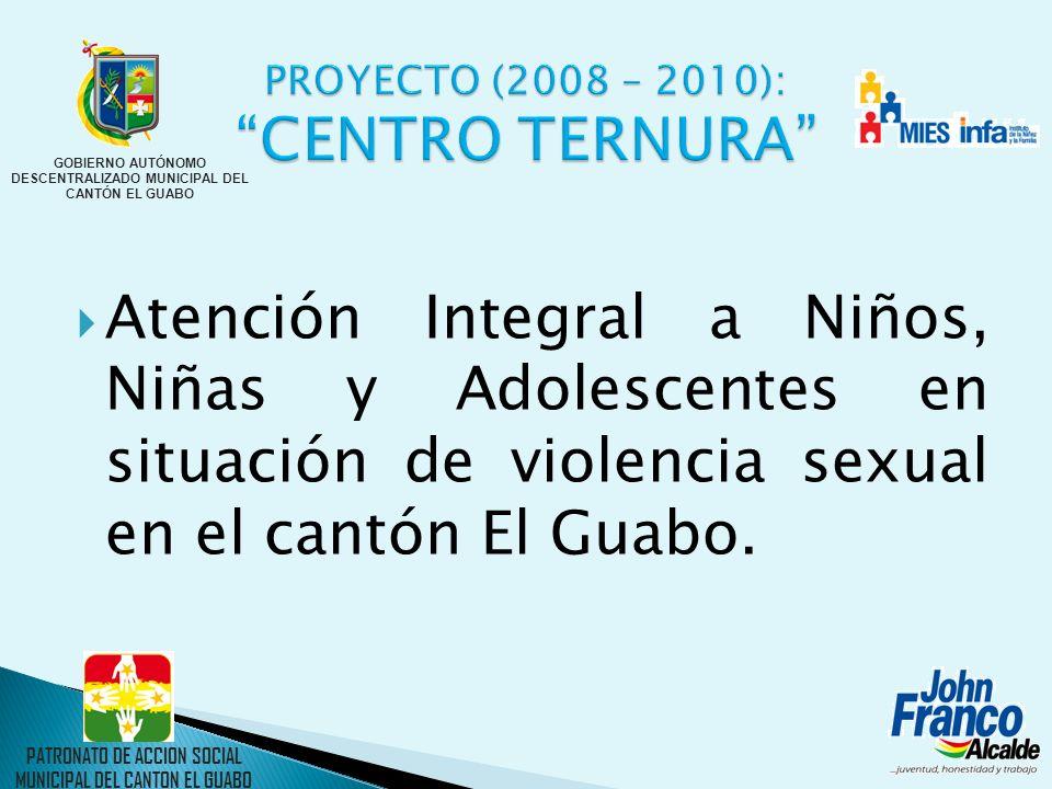 Atención Integral a Niños, Niñas y Adolescentes en situación de violencia sexual en el cantón El Guabo. PATRONATO DE ACCION SOCIAL MUNICIPAL DEL CANTO