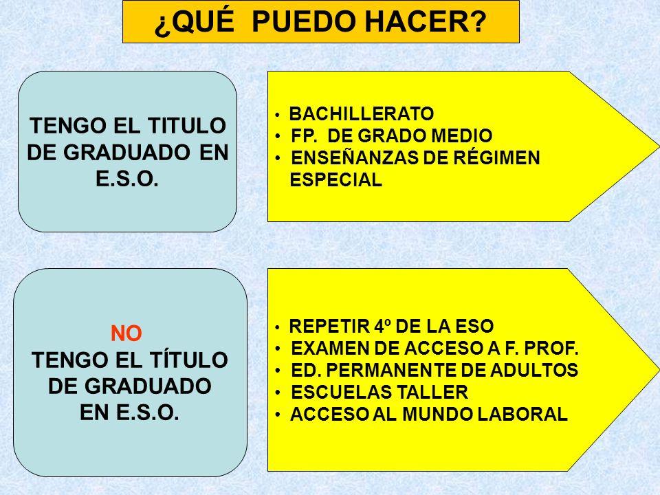 BACHILLERATO FORMACIÓN PROFESIONAL LOS PROGRAMAS DE FORMACIÓN- EMPLEO BUSCAR EMPLEO TENGO EL TÍTULO LOS PCPI EL EXAMEN DE ACCESO A LA F.P.