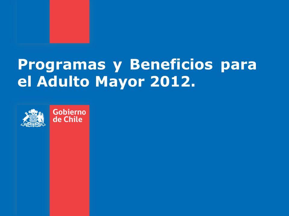 Para efectos de la siguiente presentación se dividirá la oferta programática para los adultos mayores en dos: 1.Programas del SERVICIO NACIONAL DEL ADULTO MAYOR (SENAMA).