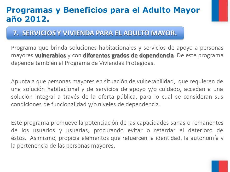 vulnerablesdiferentes grados de dependencia Programa que brinda soluciones habitacionales y servicios de apoyo a personas mayores vulnerables y con di