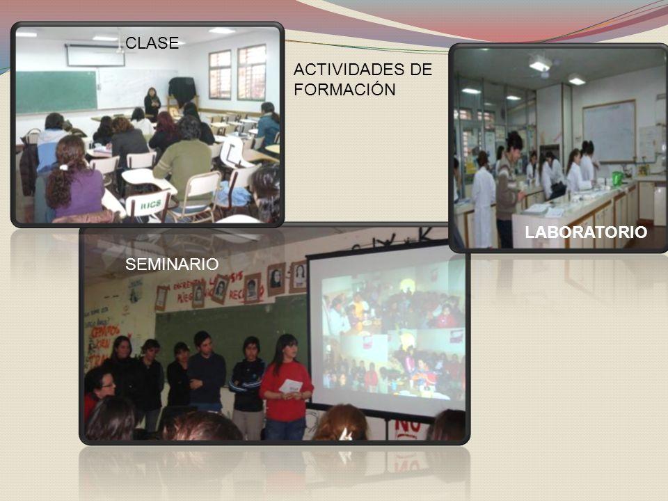 ACTIVIDADES DE FORMACIÓN CLASE SEMINARIO LABORATORIO