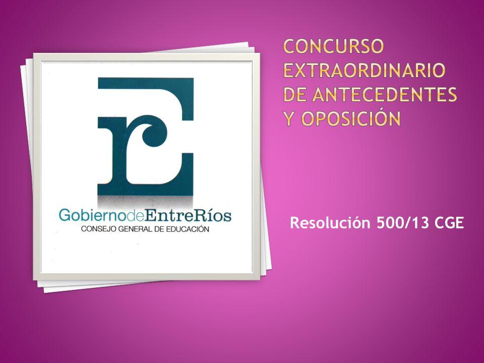 Resolución 500/13 CGE