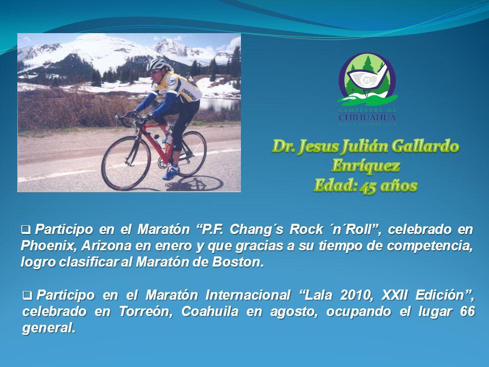 Participo en el Maratón P.F.