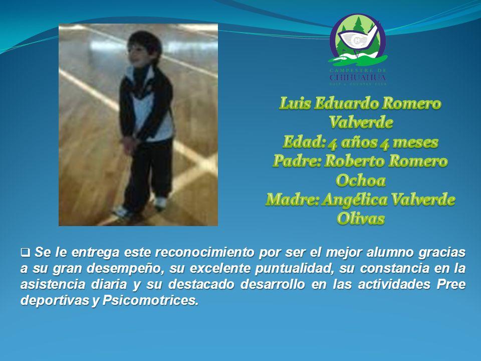 Participo en la Colegiada, celebrada en el Colegio Chihuahua de esta ciudad en septiembre, ocupando el 1er.