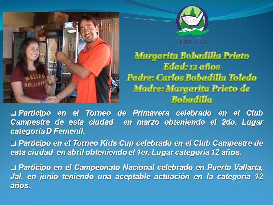 Participo en el IV Torneo Nacional de Ranking 2010, celebrado en San Luis Potosí, S.L.P., en noviembre, ocupando el 6to.