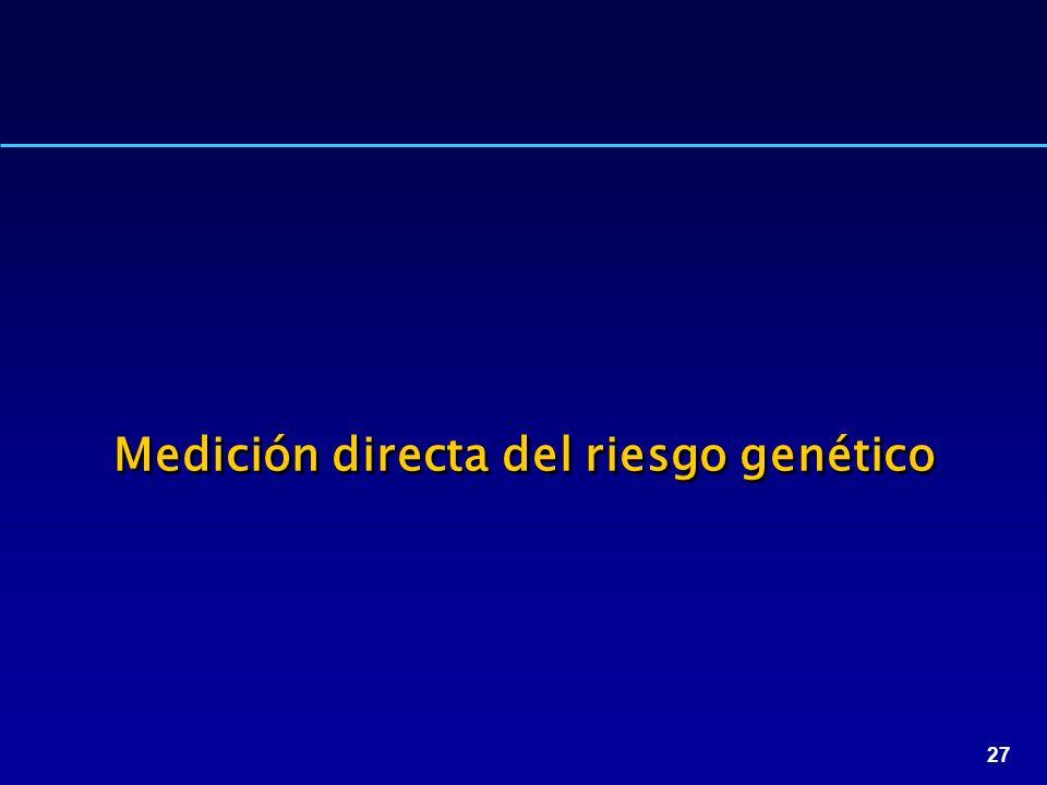 27 Medición directa del riesgo genético