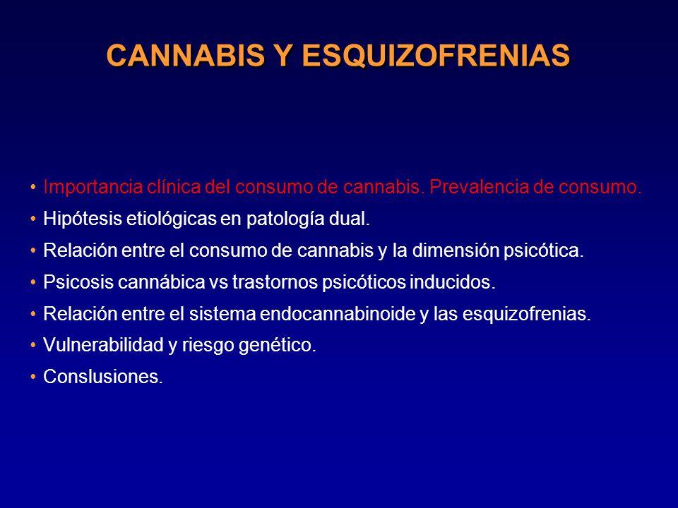 CANNABIS Y ESQUIZOFRENIAS Importancia clínica del consumo de cannabis.