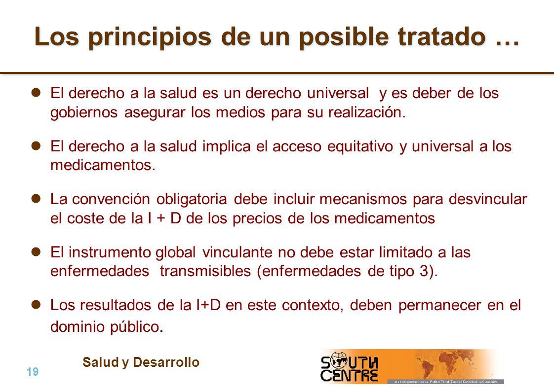 Salud y Desarrollo 19 | PubPub Los principios de un posible tratado … El derecho a la salud es un derecho universal y es deber de los gobiernos asegurar los medios para su realización.