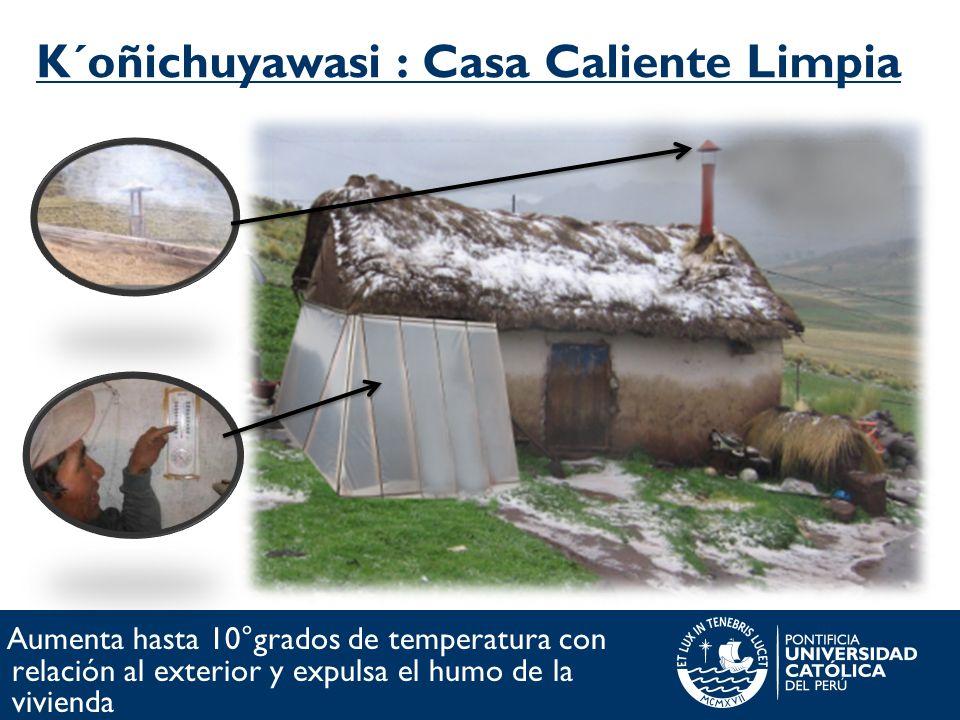 K´oñichuyawasi : Casa Caliente Limpia Aumenta hasta 10°grados de temperatura con relación al exterior y expulsa el humo de la vivienda