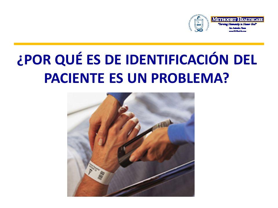 Errar es humano Errores en la medicación Errores de transfusión Errores de prueba Persona equivocada y/o procedimientos en el sitio erróneo Entrega de bebé a las familia equivocada