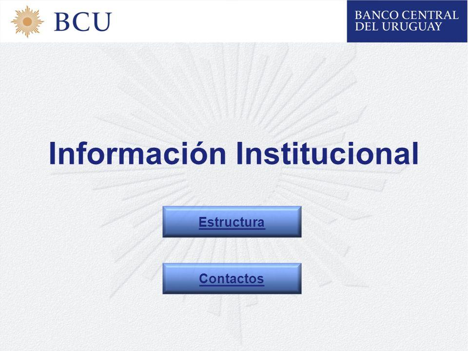Información Institucional Estructura Contactos