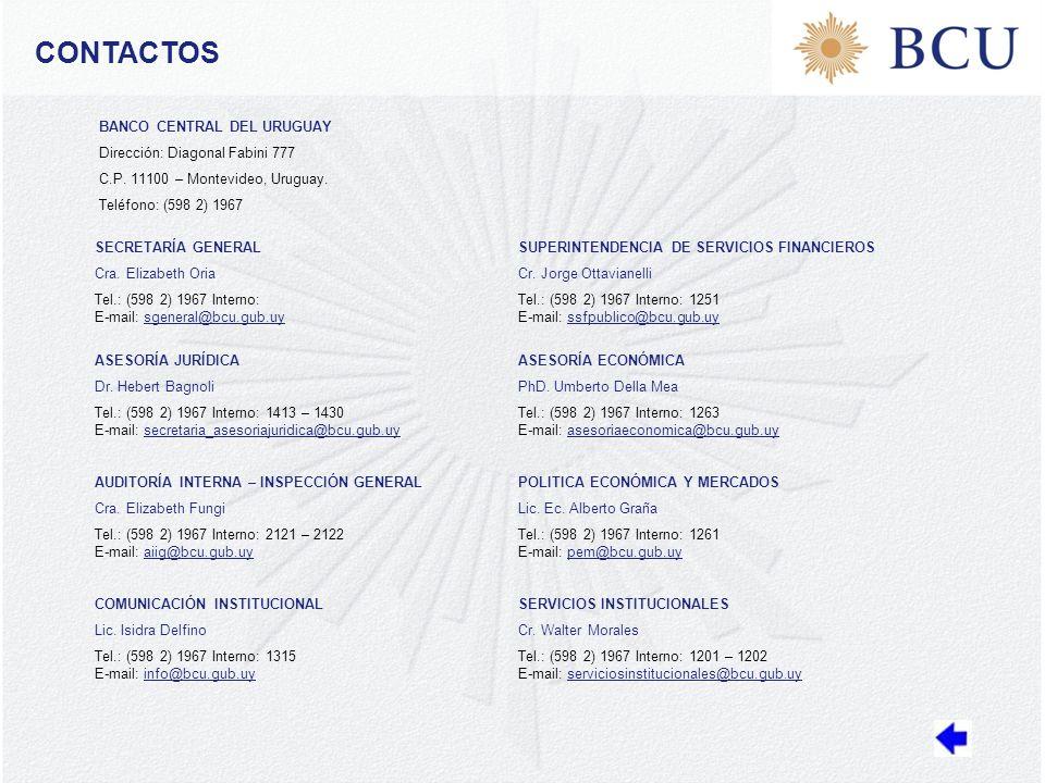 CONTACTOS SECRETARÍA GENERAL Cra.