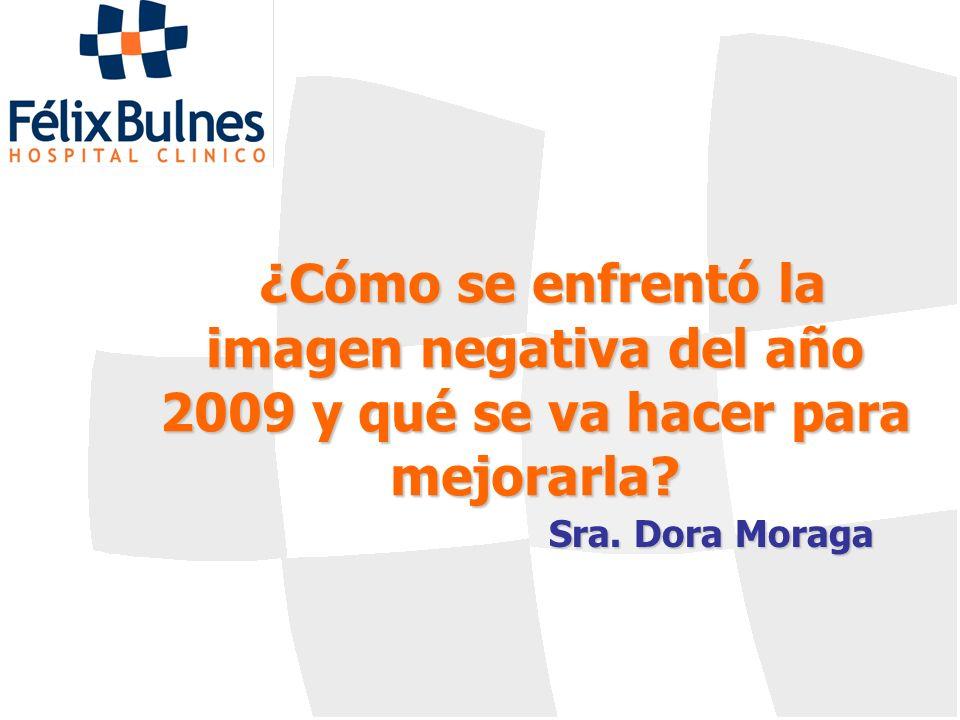 ¿Cómo se enfrentó la imagen negativa del año 2009 y qué se va hacer para mejorarla? Sra. Dora Moraga