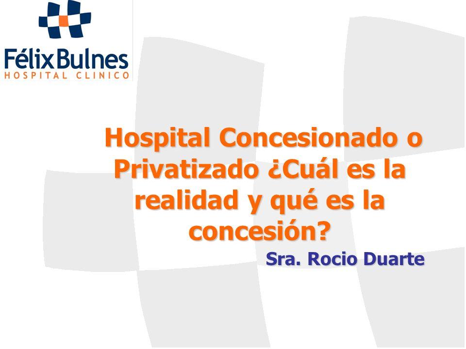 Hospital Concesionado o Privatizado ¿Cuál es la realidad y qué es la concesión? Sra. Rocio Duarte