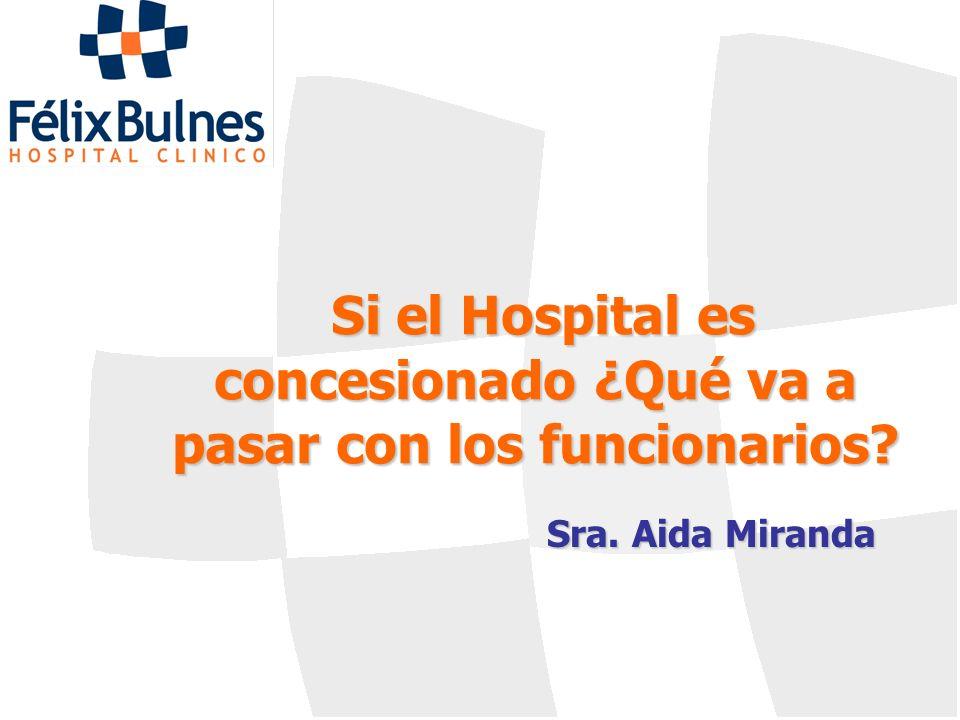 Si el Hospital es concesionado ¿Qué va a pasar con los funcionarios? Sra. Aida Miranda
