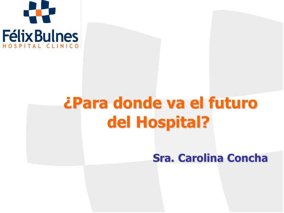 ¿Para donde va el futuro del Hospital? Sra. Carolina Concha