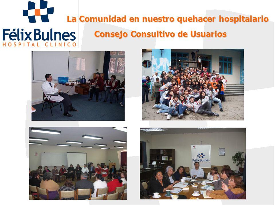 La Comunidad en nuestro quehacer hospitalario Consejo Consultivo de Usuarios