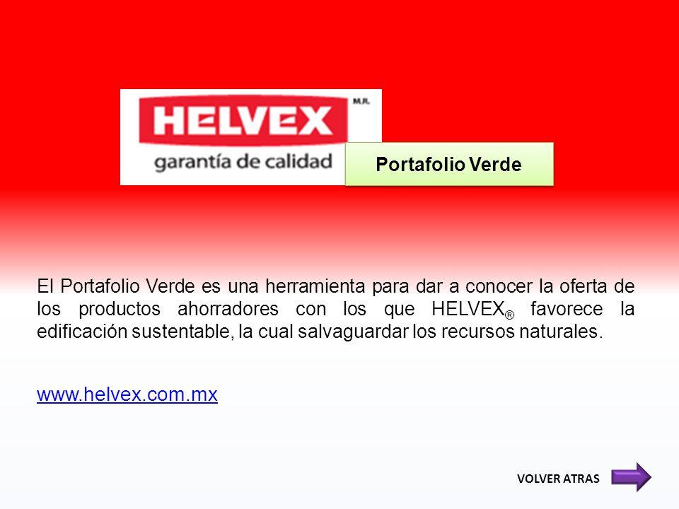 El Portafolio Verde es una herramienta para dar a conocer la oferta de los productos ahorradores con los que HELVEX ® favorece la edificación sustenta